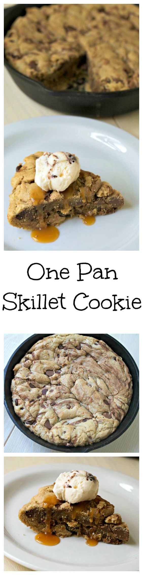 One Pan Skillet Cookie - indulge in this fresh, gooey, chocolaty ...