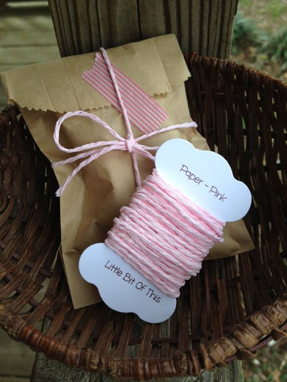 Paper Cording  Pink  5 Yards by erkline5898 on Etsy, $1.75