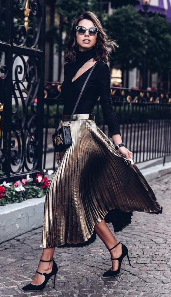 Formal wear look | Gold outfits