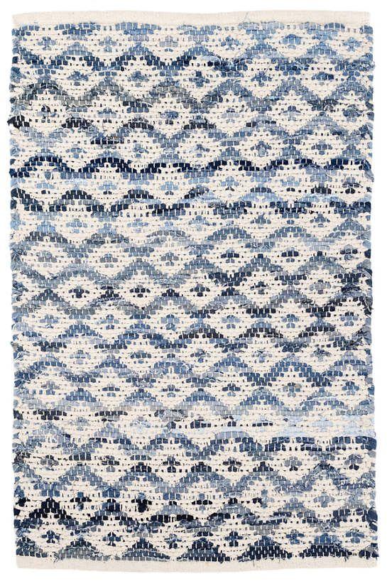 Denim Rag Diamond Ivory Woven Cotton Rug Dash Albert Rugs On Carpet Woven Rug Dash Albert
