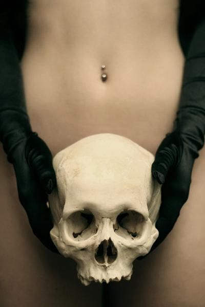 When You Don't See Me #Skull, #piercing