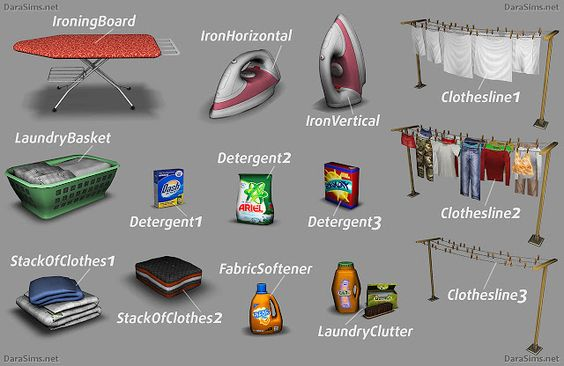 Sims 4 CC's - The Best: Laundry Decor by Dara