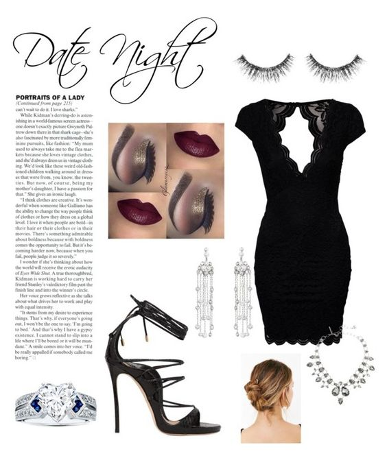 """""""Someone's Got a Hot Date //"""" by lopinslow14 ❤ liked on Polyvore featuring John Zack, Dsquared2, Sephora Collection and Oscar de la Renta"""