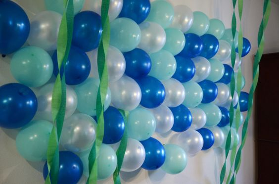 under the sea birthday party bubble wall 523