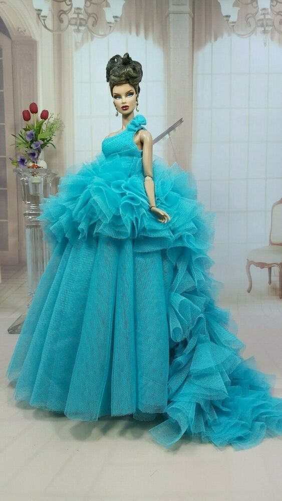 Amon Design Gown Outfit Dress Fashion Royalty Silkstone Barbie Model Doll FR #AmonDesign