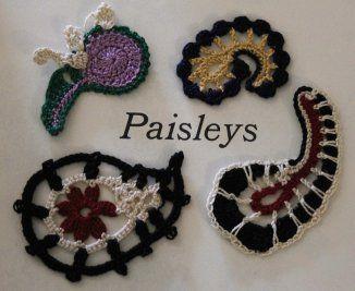 Crochet Motifs – Paisleys