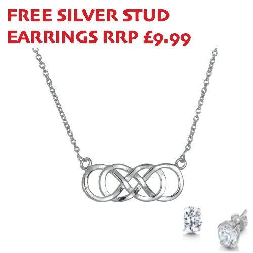Sterling Silver Double Infinity Necklace - John Stewart Jewellers