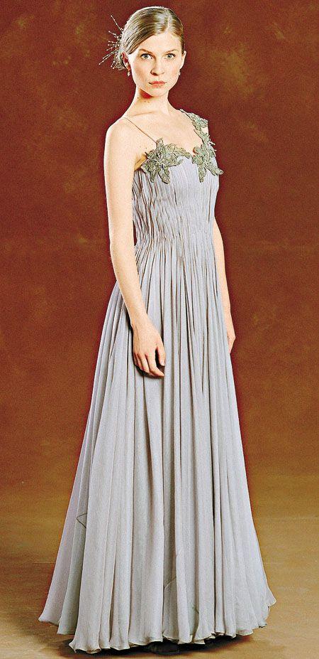 Fleur 39 s yule ball dress dresses pinterest yule ball for Fleur delacour wedding dress