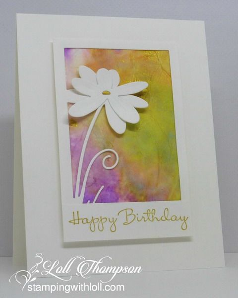 Tissue Paper Watercolouring Video On Scs Tissue Paper Crafts