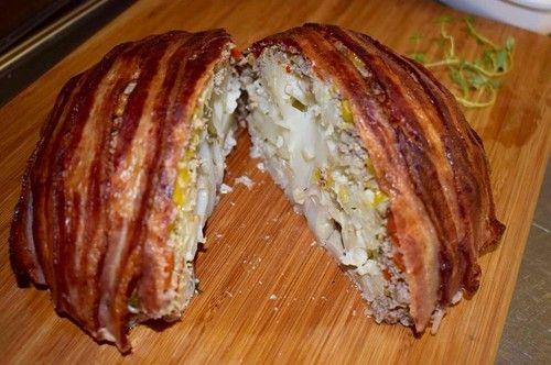 blomkål med köttfärs o bacon