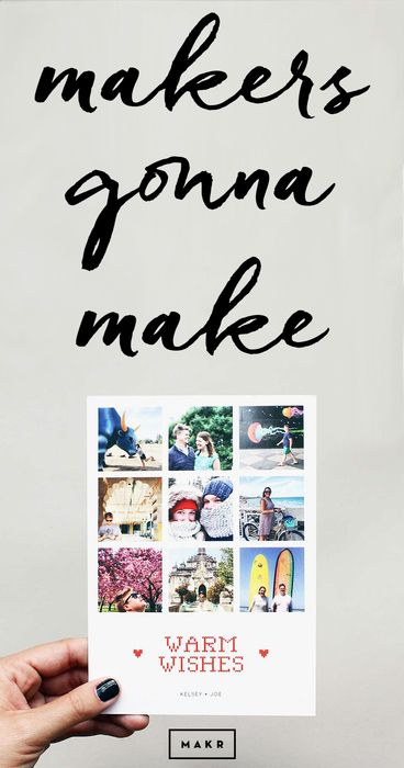 Make the season bright with personalized cards, calendars, and more from Makr. Makers gonna make.   http://makr.co/collections/holiday-kits/?utm_source=Pinterest&utm_medium=1.87P