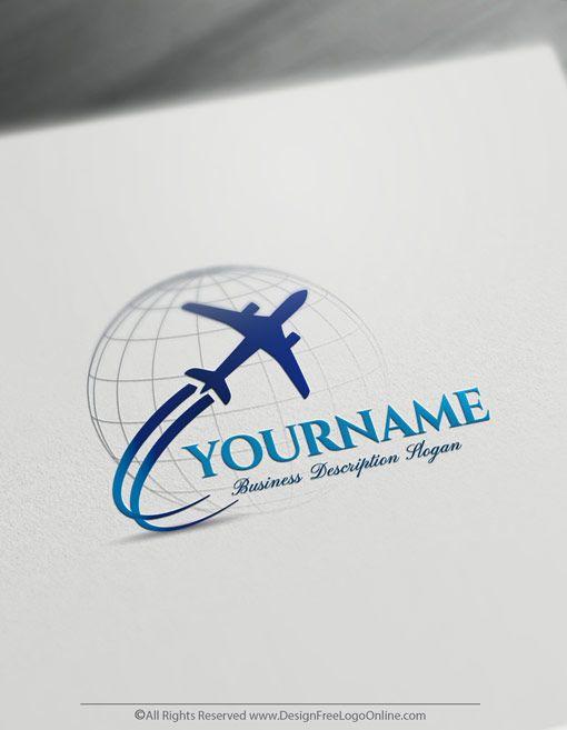 Design Your Own Airplane Logo Online Travel Logos Travel Logo Travel Agency Logo Online Logo Design