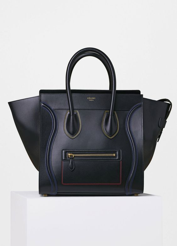 chloe pink bag - Celine Medium Luggage Tote Black Coffee Apricot