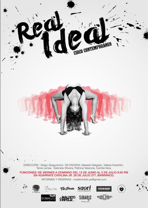 Afiche para obra de circo Contemporaneo, Real Ideal  #RealIdeal #CapitanPorrito