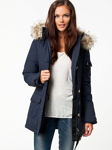 Leah Parkas - Jeane Blush - Dark Blue - Jackets And Coats