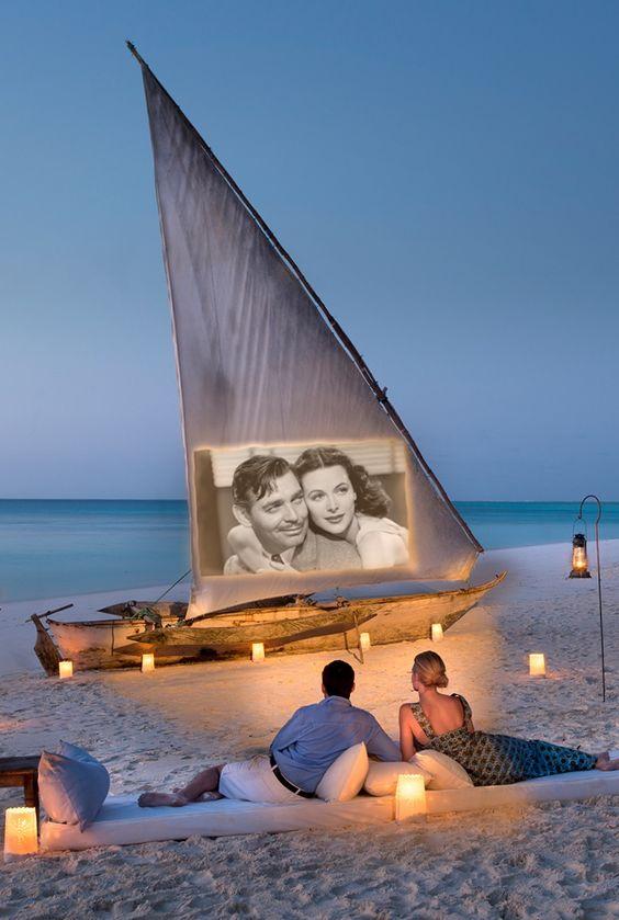 Mnemba Island Lodge - Zanzibar, Tanzania (Beautiful setting for watching a movie!)