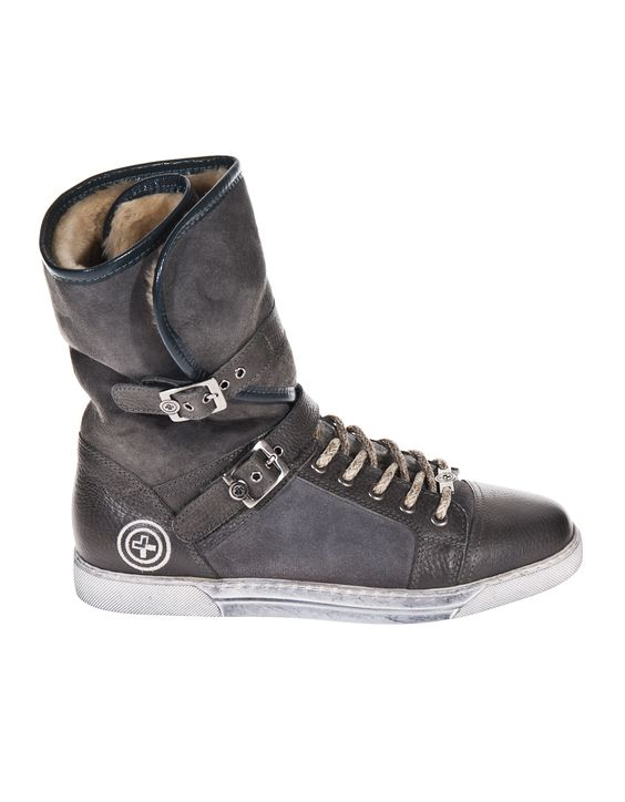 GINO B Kitzbühel Combi Grey High-top shearling sneakers - What's new