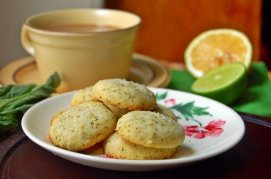 Citrus Basil Butter Cookies. #Citrus #Cookies #Basil