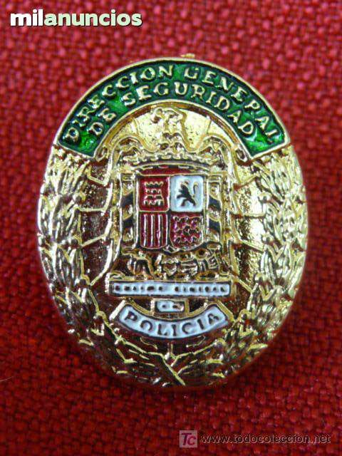 POLICÍA ESPAÑOLA.1973 · Placa Cuerpo General de Policía, Dirección General de Seguridad (1973) - Pin insIgnia  esmaltada -  Alcorcón (Madrid).. tf +34 657084651 | PERROVERDESHOP | coleccionismo | militaria | policía | pins | Ref. PV750
