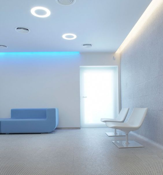 Office & Workspace, Serene Embryocare Clinic in Athens by Mab Architects: Futuristic Waiting Room Design Of Embryocare Clinic