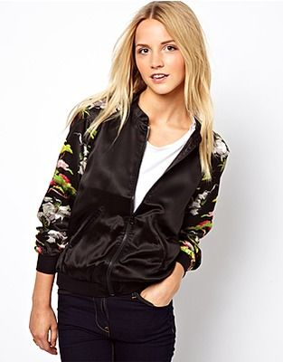 ASOS Fashion Finder | French Connection Bomber Jacket In Silk