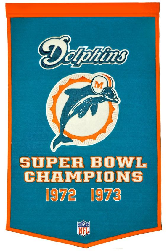 Miami Dolphins 24x36 Wool Dynasty Banner