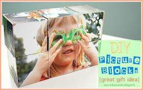 DIY Picture Blocks - great gift for a toddler!