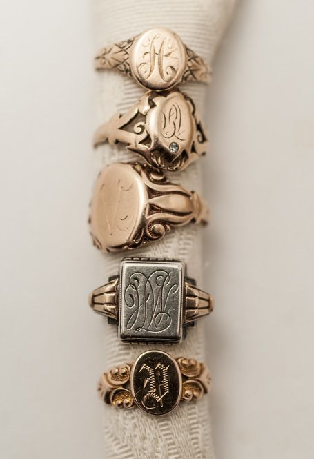 19th C. Victorian Signet Rings: