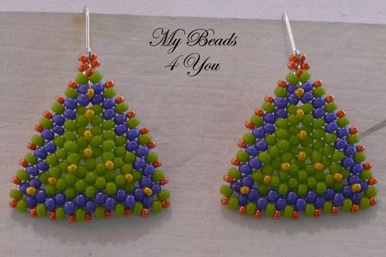 Beadwoven Tutorial Beaded Earring Tutorial Seed by mybeads4you, $5.00   Great tutorial! Make these earrings in just a few hours.