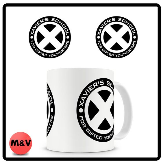 X men mug 2, Marvel, comic, school, wolverine, storm
