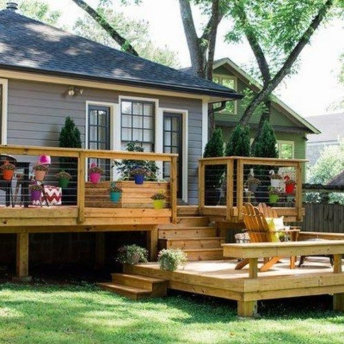 23 Amazing Multi Level Deck Ideas For Your Home Multileveldeckideas Multileveldeck Leveldec Patio Deck Designs Deck Designs Backyard Backyard Patio Designs