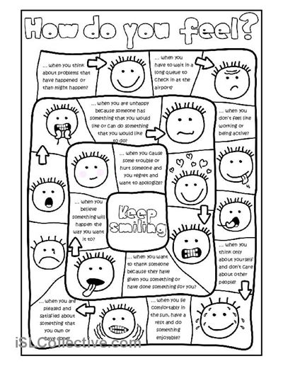 Printables Free Printable Esl Worksheets how do you feel board game worksheet free esl printable worksheets made by