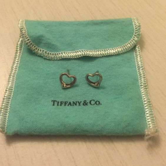 Tiffany & Co. Elsa Peretti Open Heart Earrings Authentic Tiffany & Co m. Elsa Peretti Open Heart Earrings. Sterling silver for pierced ears. Comes with pouch.  Earring backings not pictured. Tiffany & Co. Jewelry Earrings