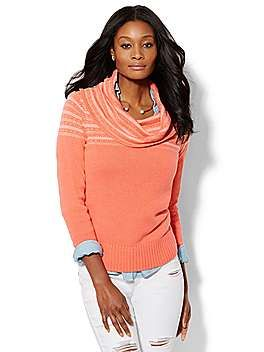 Shop Cowl-Neck Textured Sweater . Find your perfect size online at the best price at New York