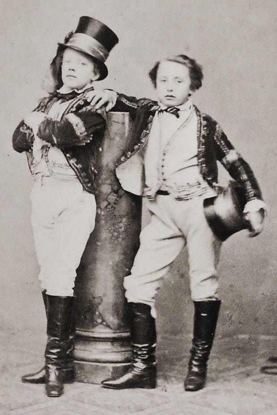 Children of Circus Renz, Vienna 1860s.  By August Mansfeld.