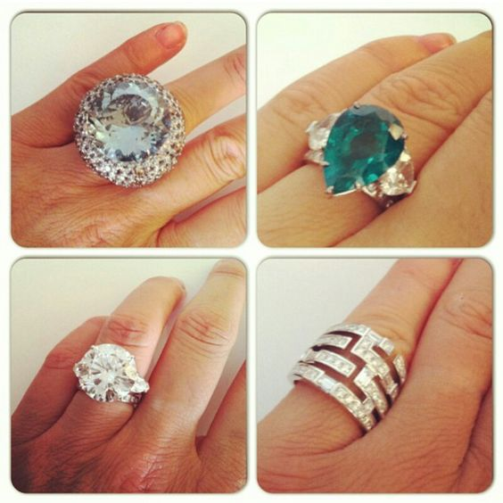 Designer rings ~ Instagram