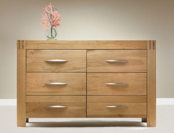 Alto Solid Oak - Wide Chest - Oak Furniture Land