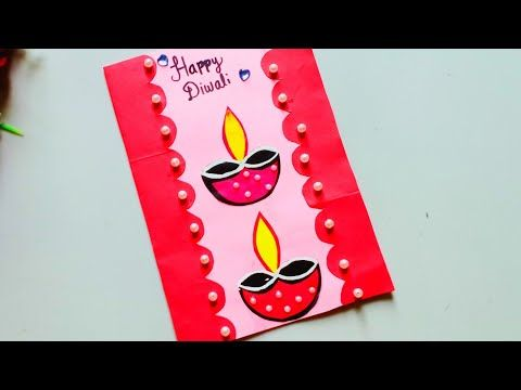 Diy Diwali Greeting Card Handmade Diwali Card Making Ideas How To Make Greeting Card For D Diwali Greeting Cards Diwali Card Making Greeting Cards Handmade