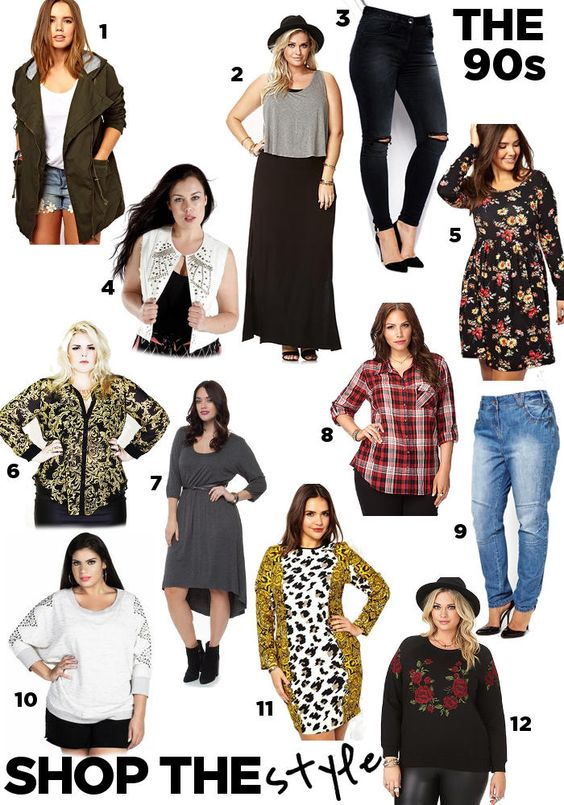 plus size 90s dress trends