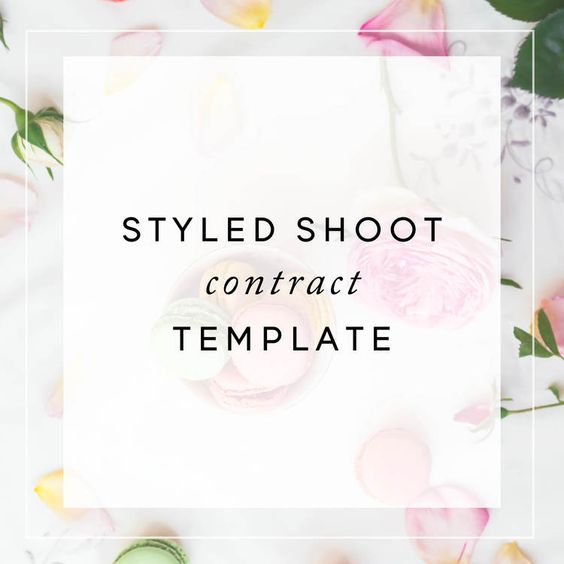 Styled Shoot Contract Template Christina Scalerajpg contract - contract template