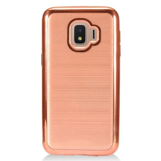Samsung Galaxy J2 Core J260 Samsung Galaxy J2 Core J260 Crystal Chrome Brushed Hybrid Case Rose Gold Samsung Cases Phone Cases Samsung Galaxy Samsung