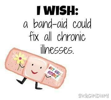 I wish it could too. I'd be covered in band-aids - Chiari Malformation