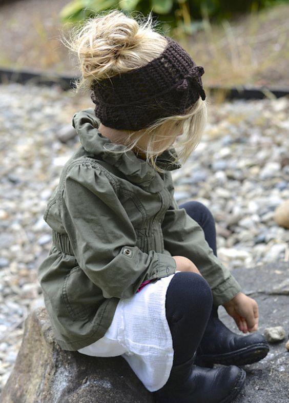 bandeau r tro vintage en tricot pour petite fille trendy enfants pinterest v tements. Black Bedroom Furniture Sets. Home Design Ideas