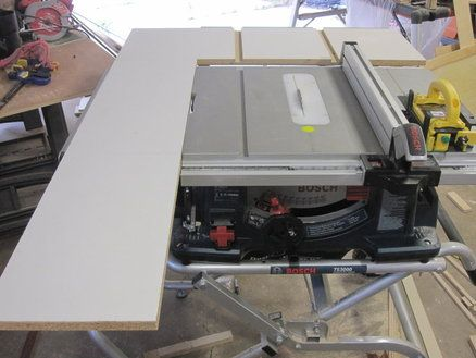 Bosch 4100 Outfeed Side Table Saw Extension Shop Ideas