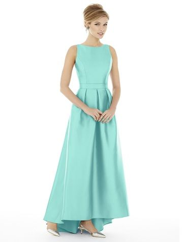 Alfred Sung D706 Bridesmaid Dress in Turquoise
