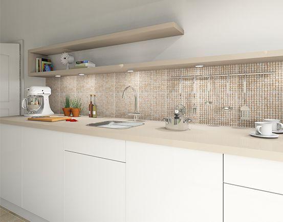 Mosaikfliesen Kueche fliesenmax 553x434 160802 | Küche in ...