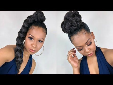 How To Super Easy Side Jumbo Braid Ponytail 2 For 1 Special Youtube Diy Hairstyles Natural Hair Styles Hair Styles