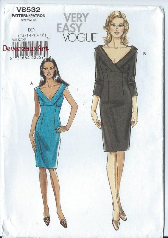 16 20 Vogue V9355 Off the Shoulder Bodice Formal Dress Sewing Pattern 9355 UNCUT Plus Size 14 22 18