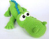 Crocodile Alfred- Amigurumi Crochet Pattern / PDF e-Book / Stuffed Animal Tutorial