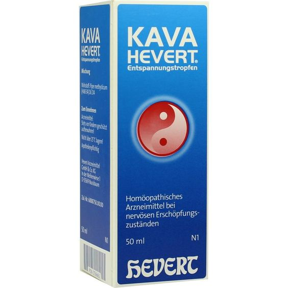 KAVA HEVERT Entspannungstropfen:   Packungsinhalt: 50 ml Tropfen PZN: 02736662 Hersteller: Hevert Arzneimittel GmbH & Co. KG Preis: 10,03…